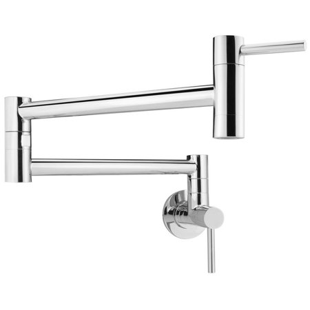 - GF46 Andorra Series Stainless Steel Wall Mount Pot Filler Faucet