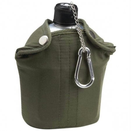 Maxam ® 32oz Aluminum Canteen with Cover and Cup