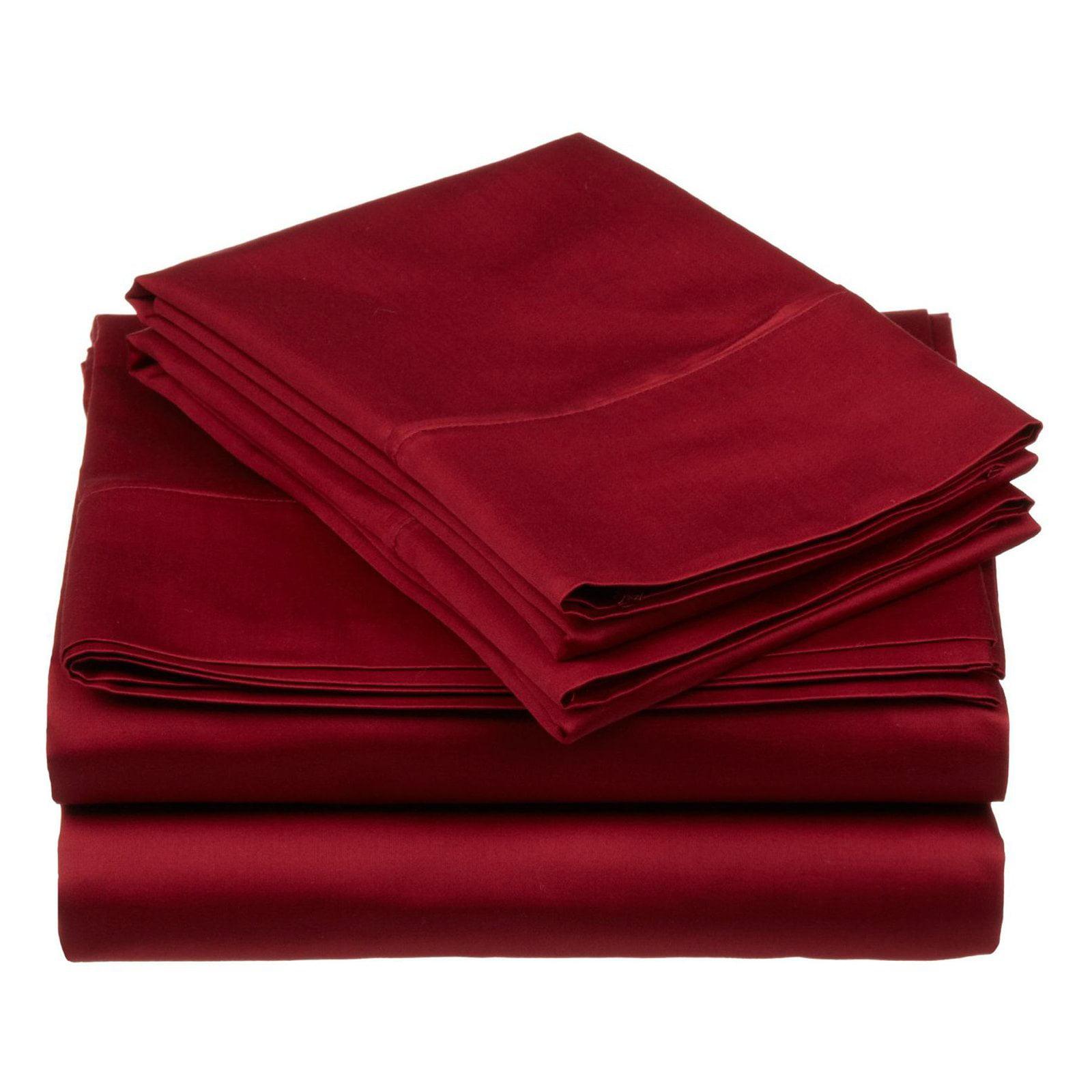 Superior 530 Thread Count 100% Premium Combed Cotton Solid Sheet Set