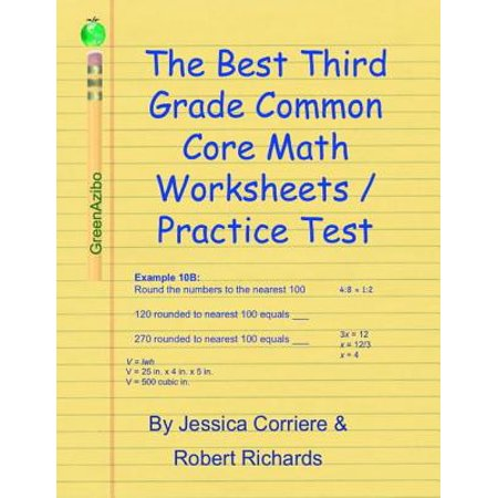 The Best Third Grade Common Core Math Worksheets / Practice Tests - eBook - Halloween Math Worksheets Grade 7