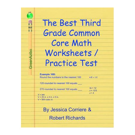 The Best Third Grade Common Core Math Worksheets / Practice Tests - eBook