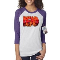 The Walking Dead Show Zombie Dead Womens Raglan Shirt Top
