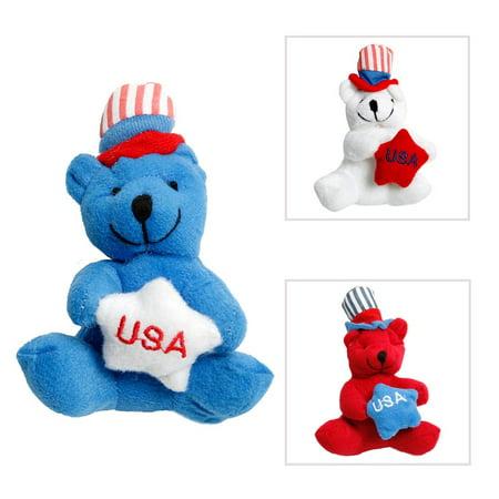 Plush Patriotic Bear - Patriotic Stuff