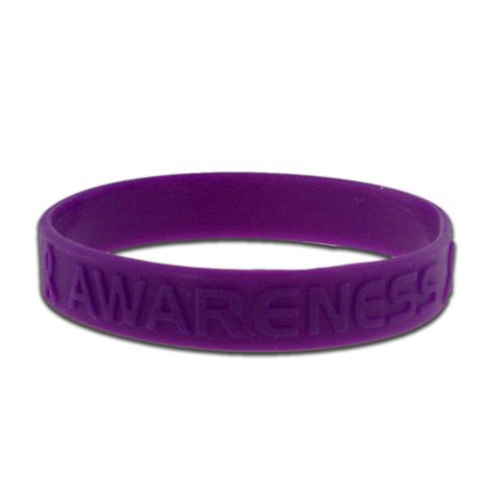 Purple Domestic Violence Awareness Rubber Silicone Bracelet - Silicone Bracelets Bulk
