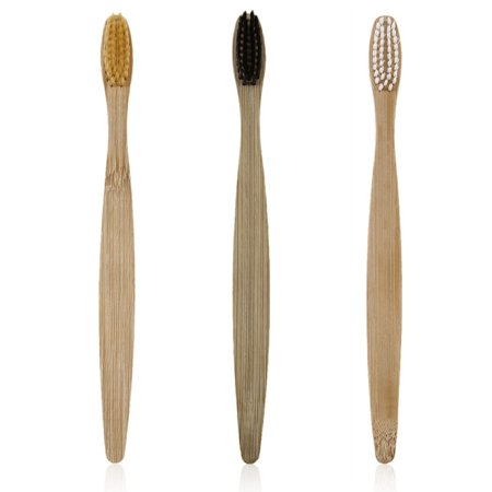 HC-TOP Environment-friendly Wood Toothbrush Bamboo Toothbrush Soft Bamboo Fibre - image 4 de 7