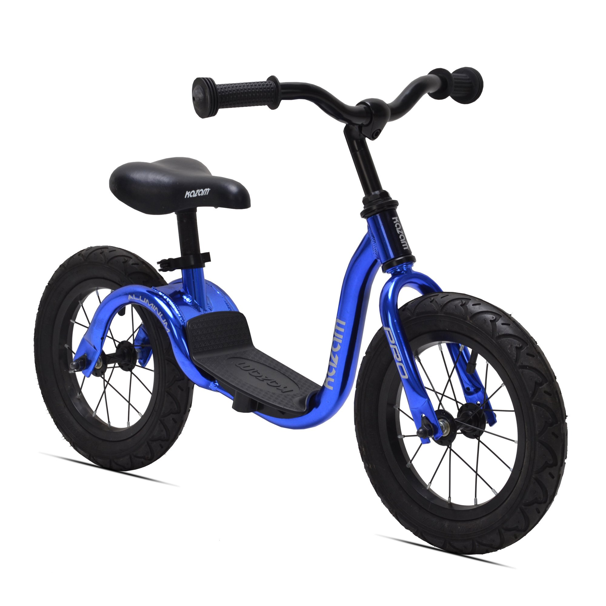 KaZAM Bikes Blue Pro Aluminum Kids No Pedal Learning Adjustable Balance Bike