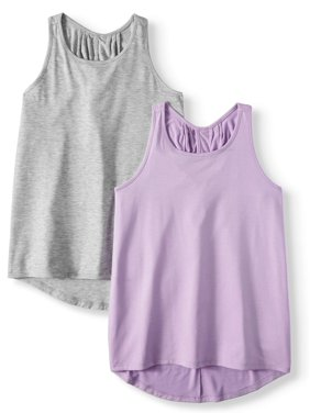 9b99a3267 Product Image Pleat Back Active Tank, 2-Pack (Little Girls & Big Girls)