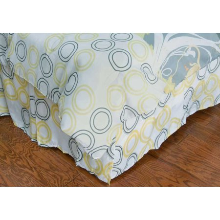 Rizzy Home Bs0874 Yellow Microfiber Polyester Twin Bed Skirt