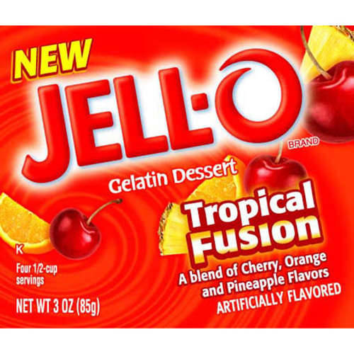 Jell-O Tropical Fusion Artificially Flavored Gelatin Dessert, 3 Oz
