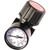 "Primefit CR1401G Replacement Air Regulator with Steel-Protected Gauge, .25"" NPT"