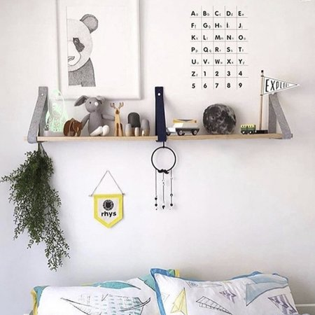 Floating Wall Shelf Hanging Wall Mounted Wall Shelf Decoration Plants Holder Storage Rack Bracket Vintage Photo Display Decor Home Hotel Decor Rack Wood Indoor ()