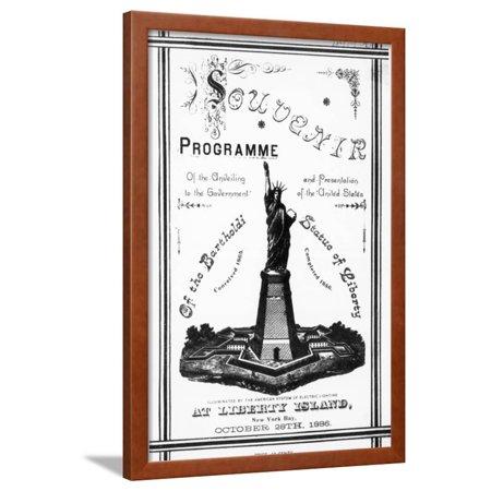 Program Souvenir for Statue of Liberty Framed Print Wall Art (Musical Souvenir Program)