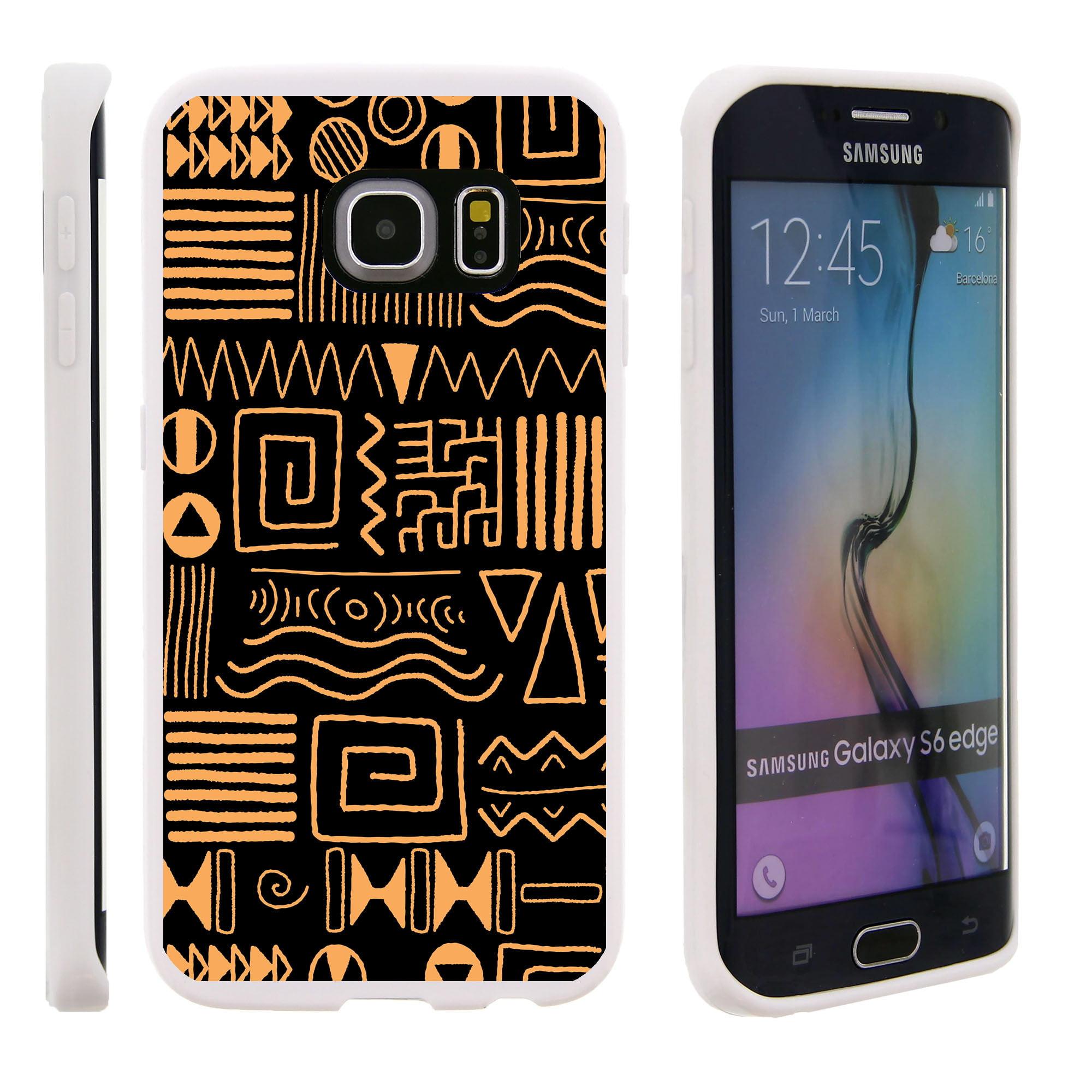 Samsung Galaxy S6 Edge G925, Flexible Case [FLEX FORCE] Slim Durable TPU Sleek Bumper with Unique Designs - Shape Symbols