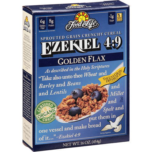 zekiel 4:9 Golden Flax Sprouted Grain Crunchy Cereal, 16 oz, (Pack of 6)