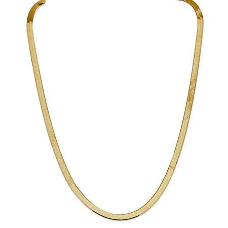 14k 5.5mm Silky Herringbone Chain