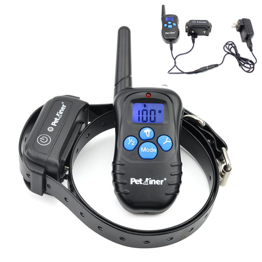 Petrainer PET998DBB1 Waterproof Shock Collar 330yds Remote Dog Training Collar with Beep/Vibration/Shock Electric E-collar