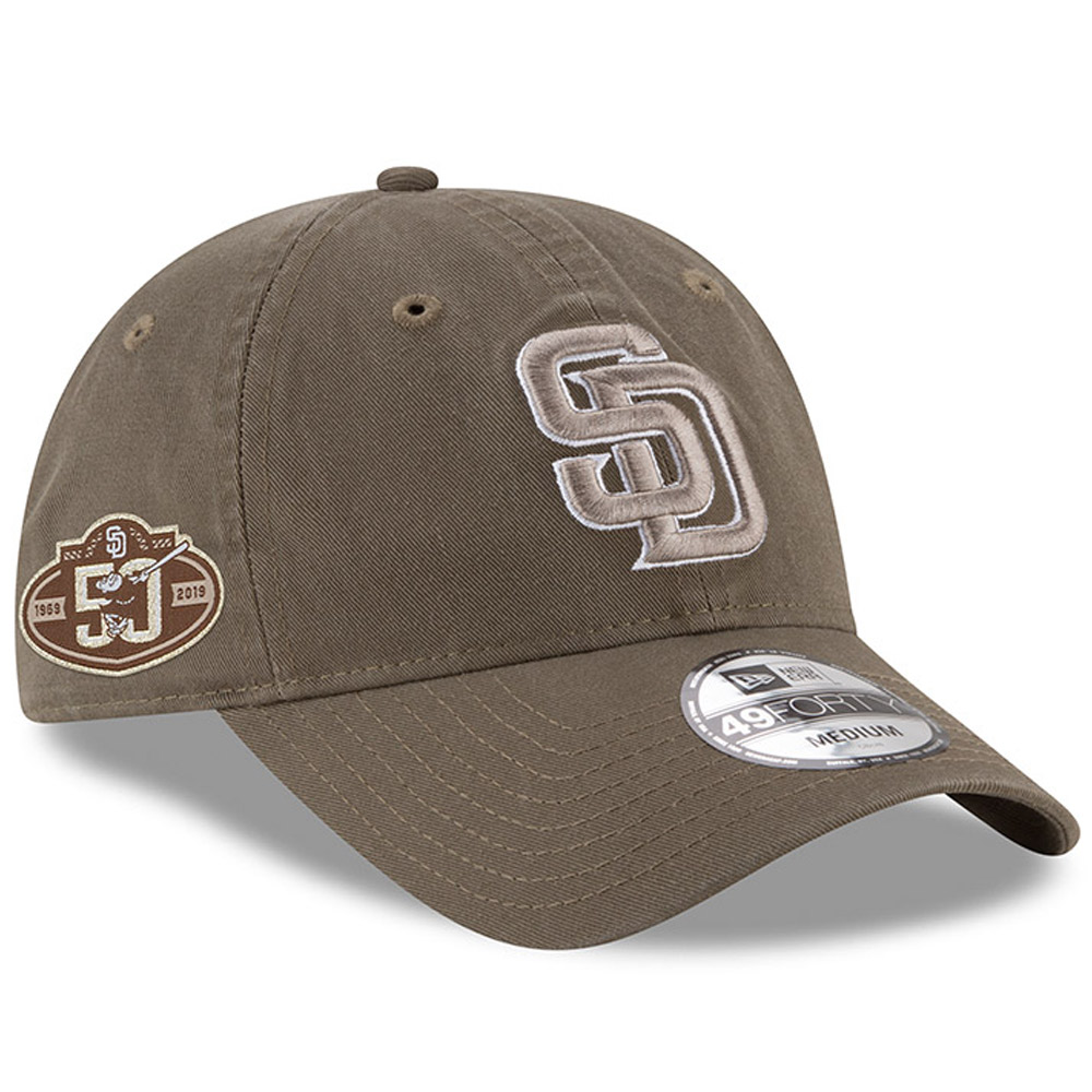 San Diego Padres New Era 50th Anniversary Core Fit Replica 49FORTY Fitted Hat - Brown