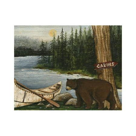 Northwoods Bear Crop Print Wall Art By David Cater Brown ()