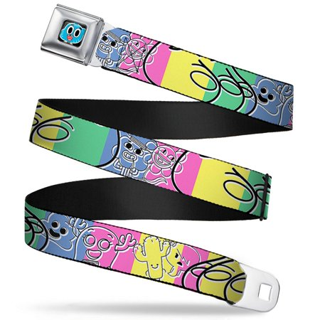 Gumball Face Close Up Black Full Color Tawg Character Collage Sketch Blocks Seatbelt Belt (Face Gumballs)
