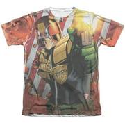 Judge Dredd Democracy (Front Back Print) Mens Sublimation Shirt