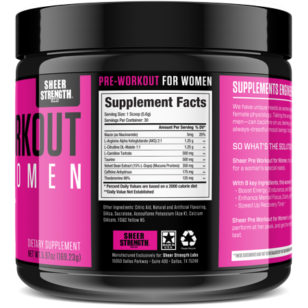 Best Sheer Pre-Workout for Women - Premium Supplement, Increased Energy, Enhanced Workouts deal