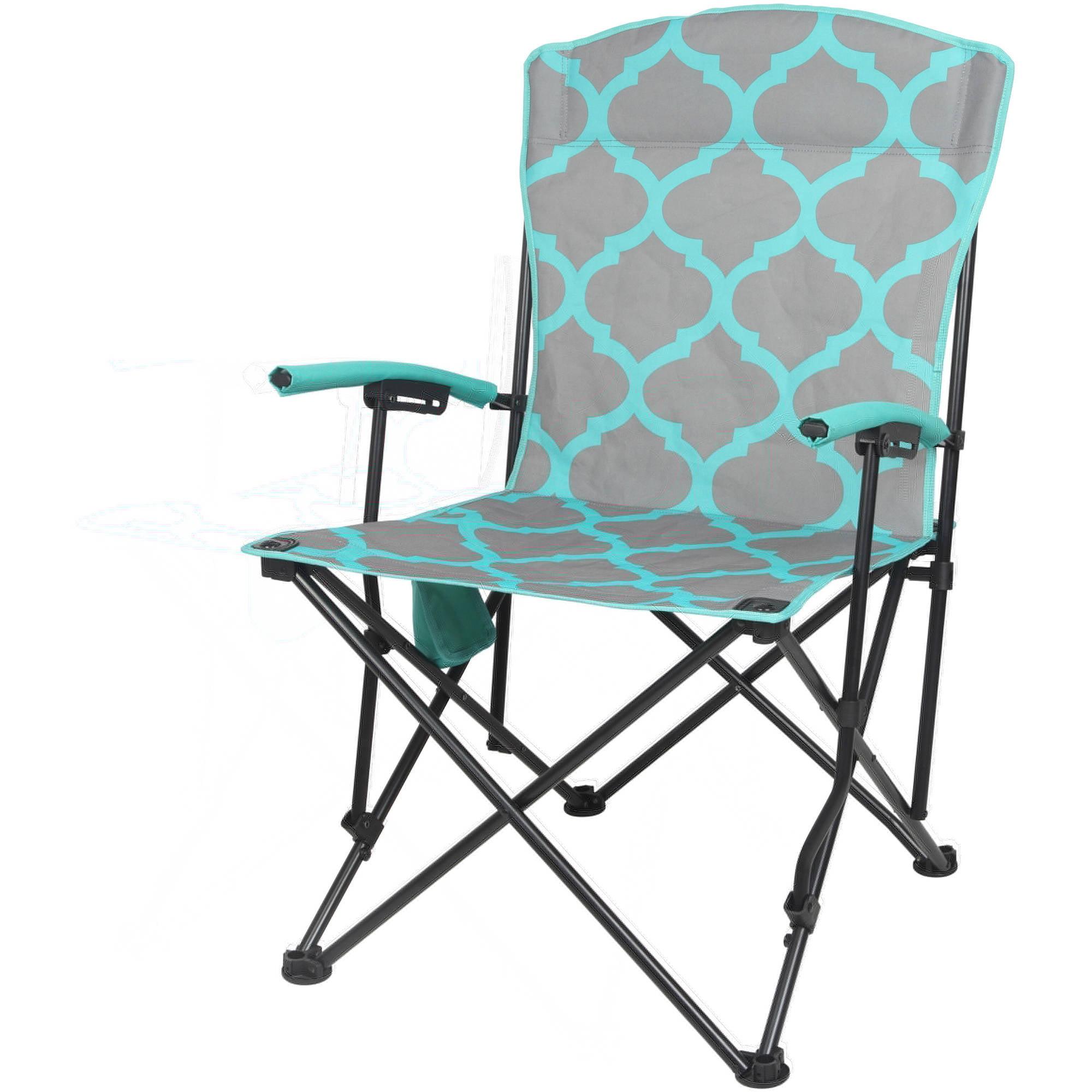 Ozark Trail Basic Hard Arm Chair, Blue   Walmart.com