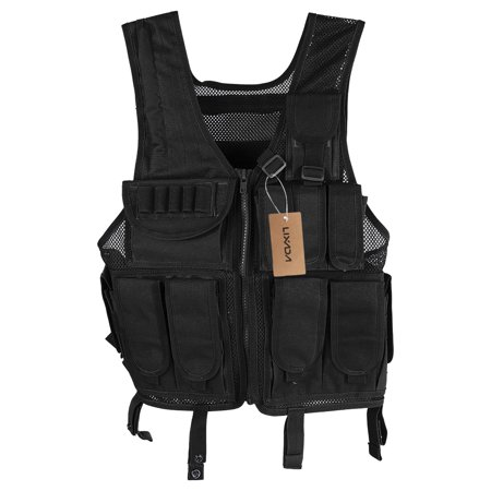 Lixada Outdoor Hunting Molle Vest Gear Load Carrier Vest Modular Chest Set Molle Chest Rig Adjustable Training CS Gaming Vest