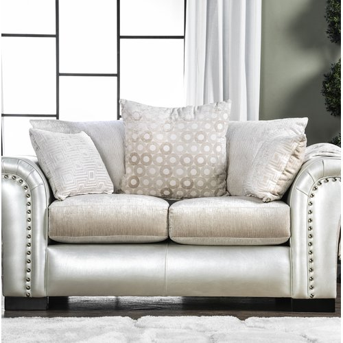 Latitude Run Calton Contemporary Loveseat