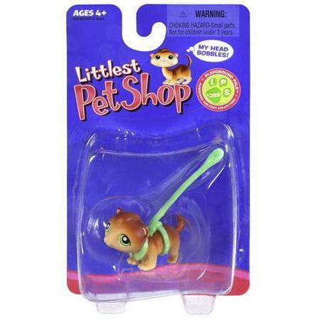 Littlest Pet Shop Ferret Figure [Green Leash]