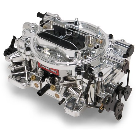 Edelbrock 18054 Thunder Series AVS Carburetor; New; 4 bbl; 650cfm; Square Flange 4150; Manual Choke; Single/Dual Fuel Inlet; Gas; Mechanical Secondary w/Adj. Velocity Air (Air Velocity Probe)