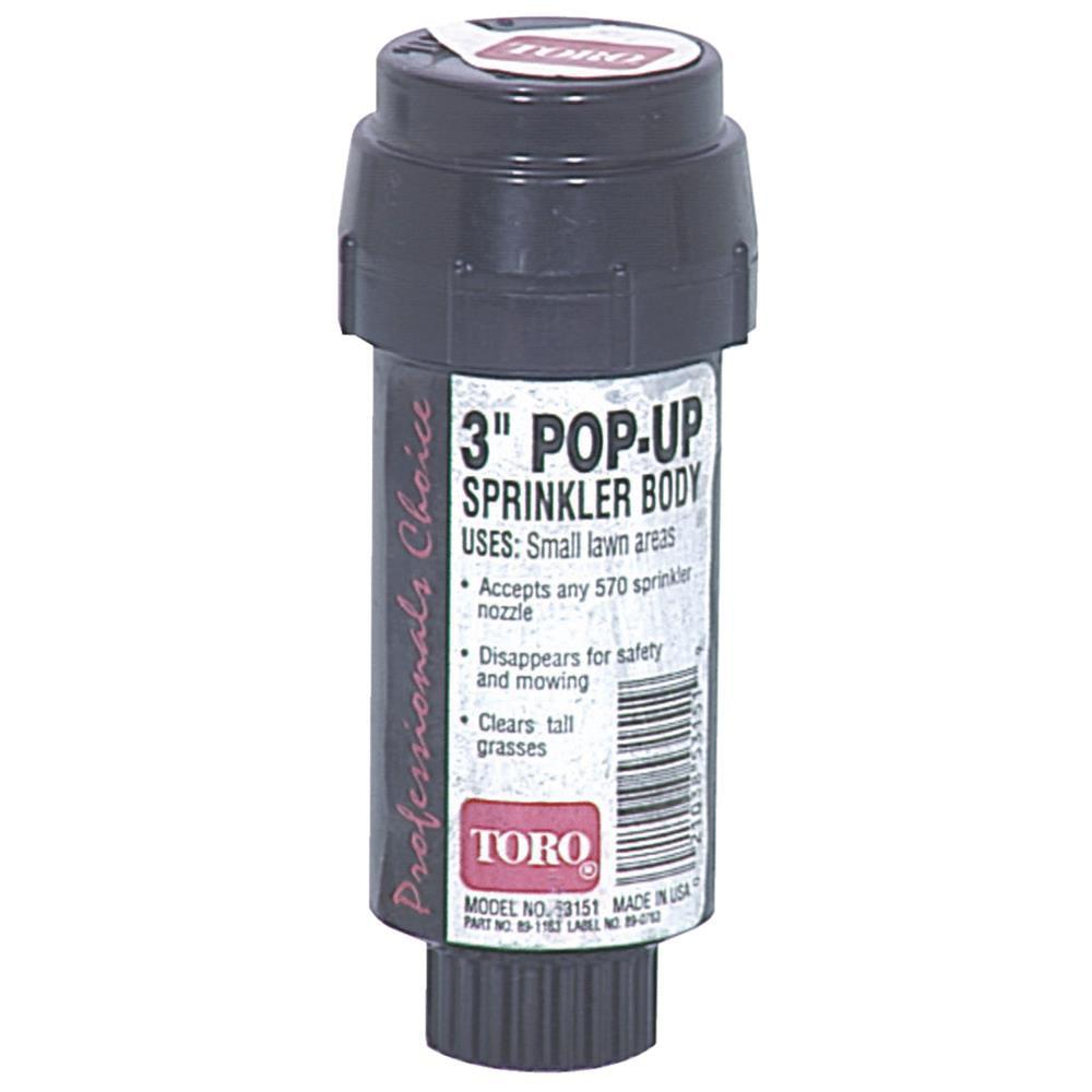"Toro 53820 3"" 570Z Pro Series Pop-Up Body Only Sprinkler with Flush Plug"
