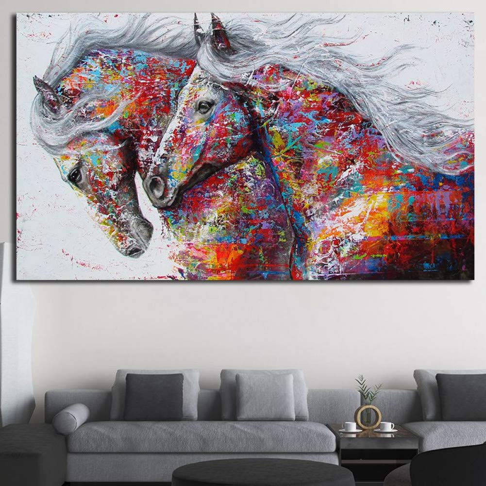 Canvas Oil Painting Wall Decor Artwork Hanging Poster King /& Queen