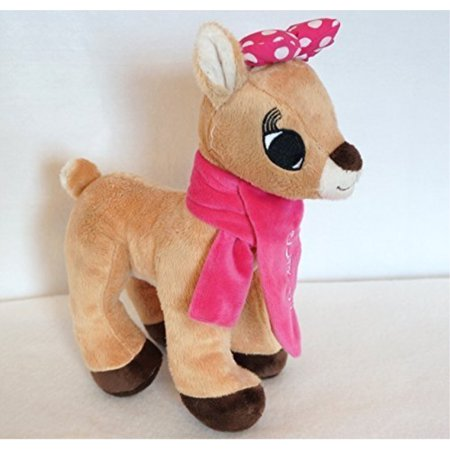 2013 rudolph the red nosed reindeer xmas clarice 11 plush doll w/scarf (Poseable Rudolph Reindeer)