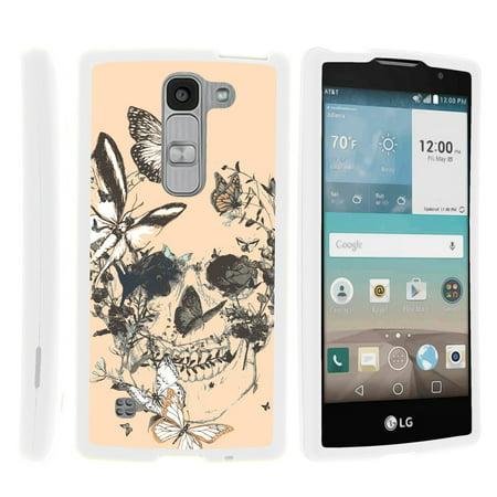 LG Escape 2 H443, LG Spirit LTE, [SNAP SHELL][White] Hard White Plastic Case with Non Slip Matte Coating with Custom Designs - Fruity Rose Pattern - Custom School Spirit Items