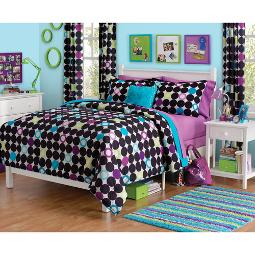 your zone color block dot comforter set