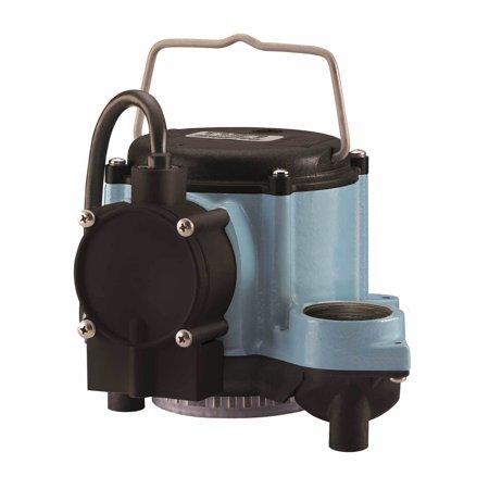 LITTLE GIANT Submersible Sump Pump,1/3 HP,1-1/2 in. 6-CIA-ML Cast Iron Pedestal Sump Pump