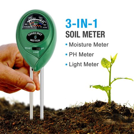 3-in-1 Digital PH Acidity Meter Multifunctional Soil Tester Moisture Meter Sunlight Intensity Measurement Analysis Instrument