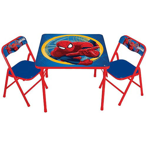 Marvel Spider-Man Activity Table and Chairs Set by Generic