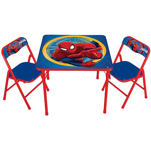 Marvel Spider-Man Activity Table and Chairs Set