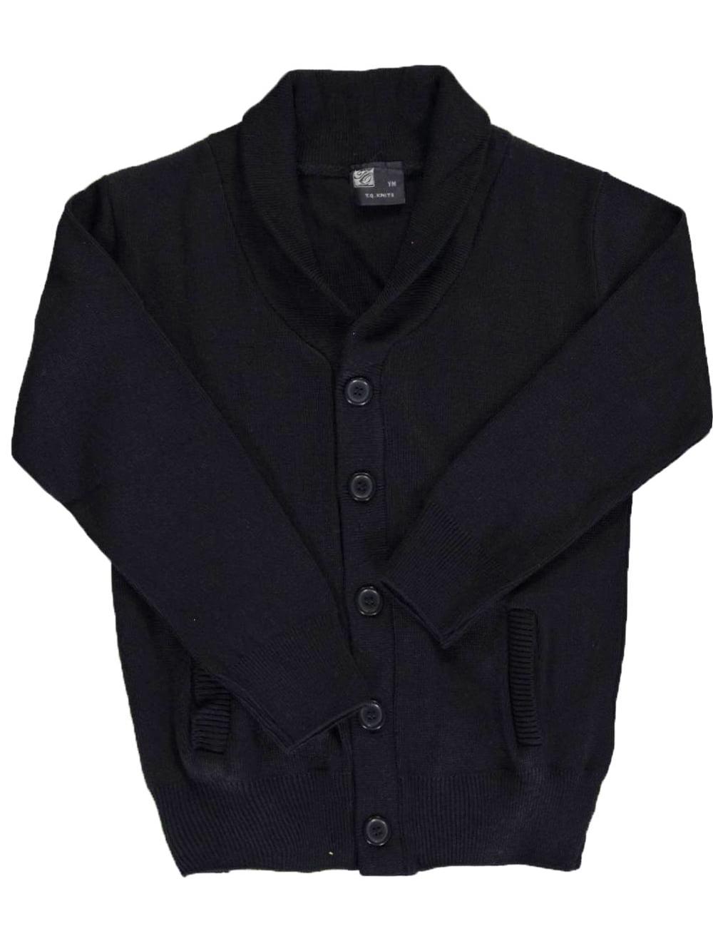 Big Boys' Roll Collar Control-Pil Cardigan (Sizes 8 - 20)