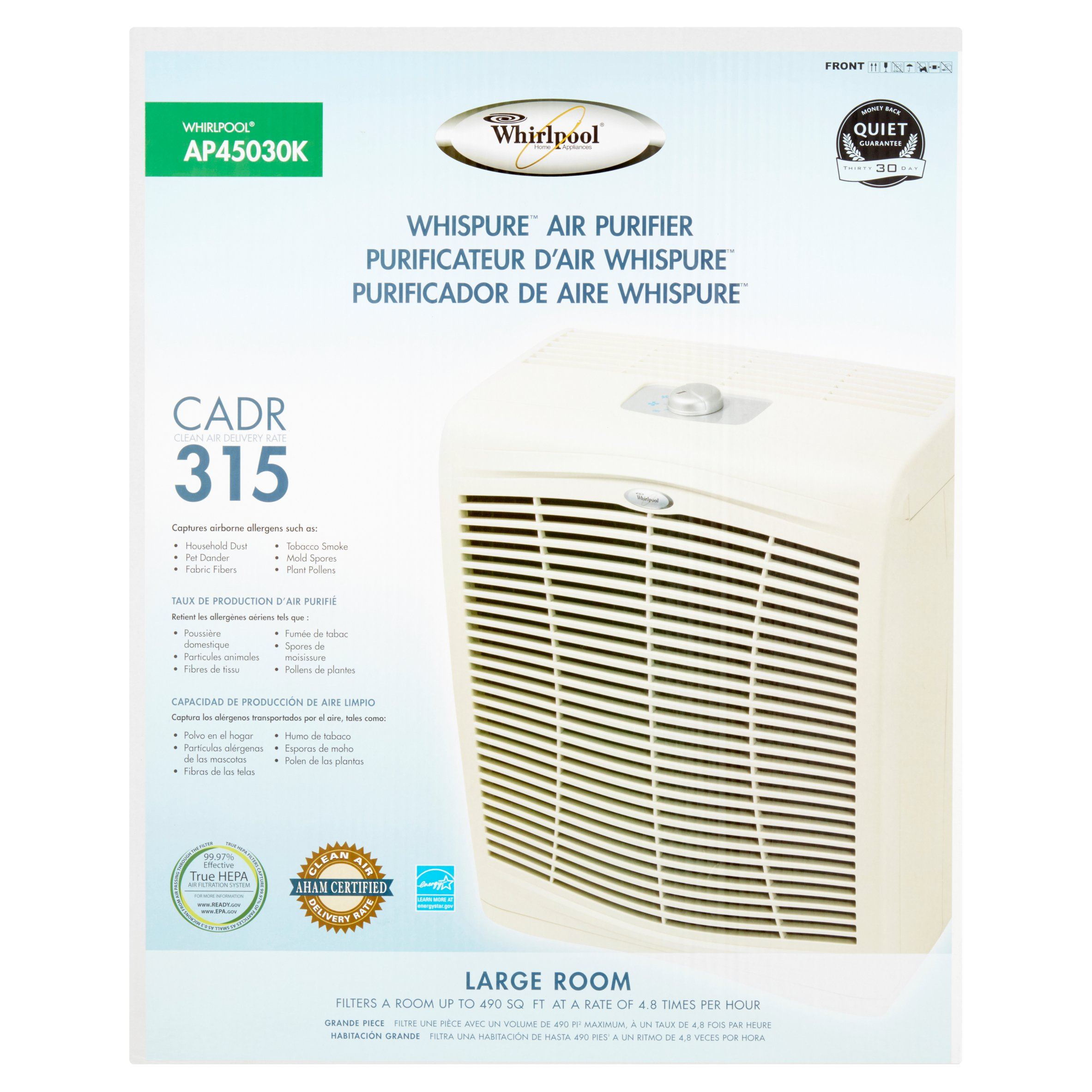 Whirlpool Whispure Large Room Air Purifier