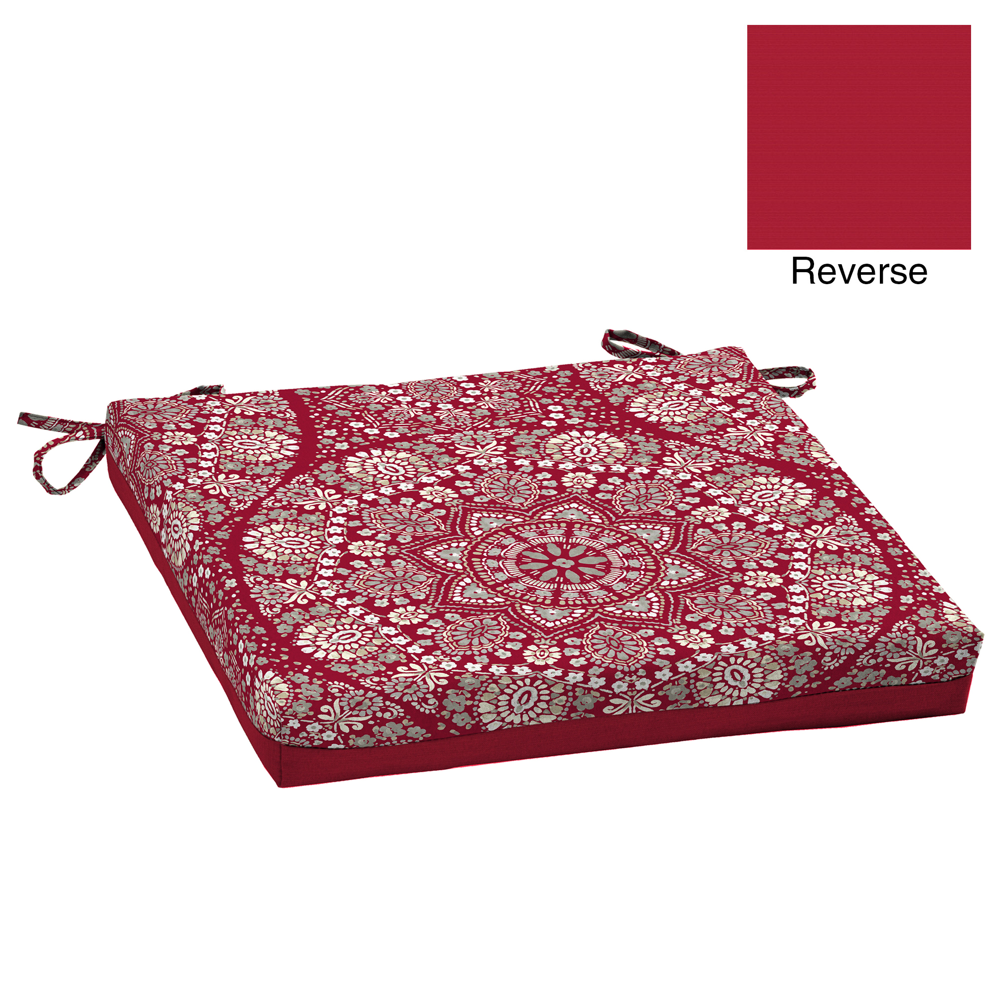 Better Homes and Gardens Lace Medallion Outdoor Dining Seat Cushion