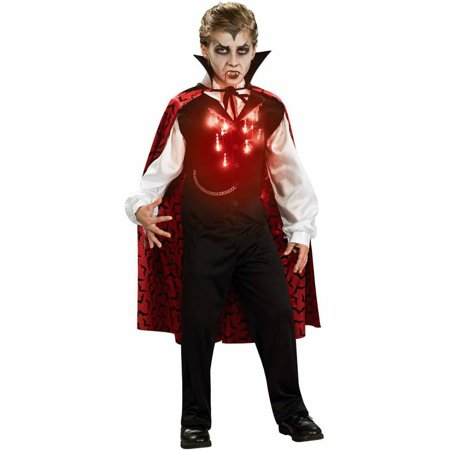 Lite-Up Vampire Boys' Child Halloween Costume - Halloween Eye Makeup Vampire