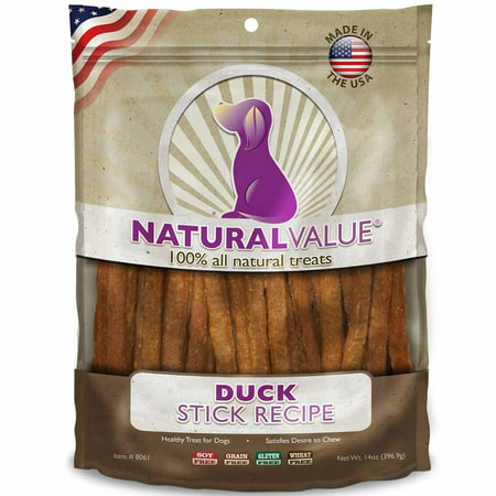 - Natural Value Soft Chew Healthy Dog Treats - Duck Sticks, 14 oz