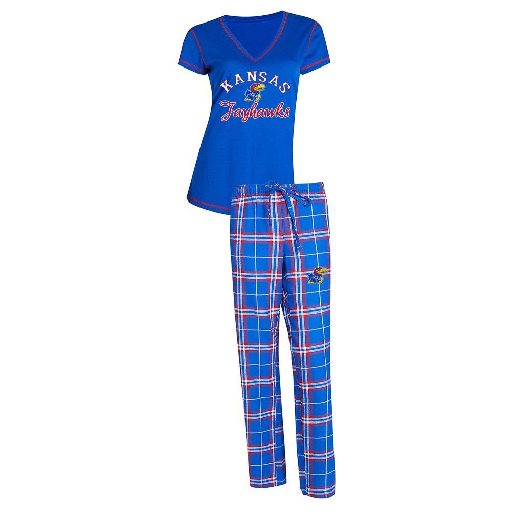Kansas Jayhawks KU Women's Pajama Set Duo Sleep Set