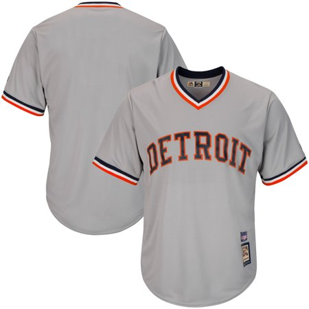 Detroit Tigers Majestic Big & Tall Cooperstown Collection Cool Base Team Jersey - Gray
