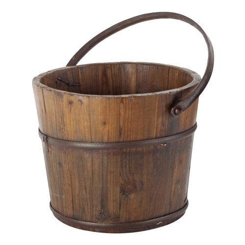 Antique Revival Vintage Wooden House Bucket