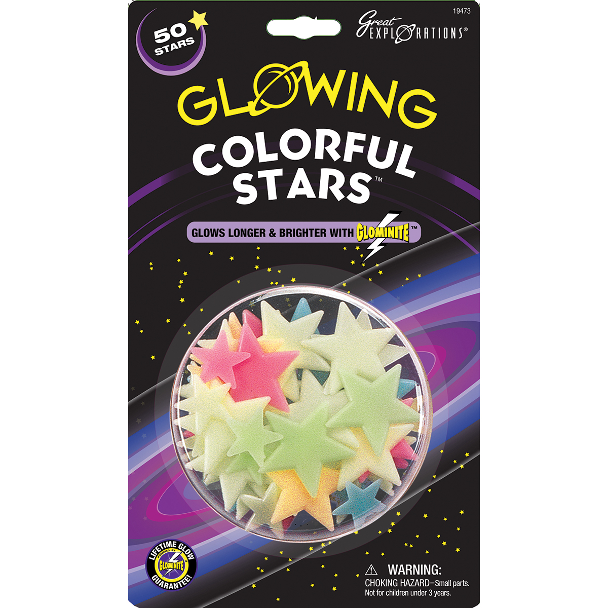 GlowInTheDark Star PacksColorful Stars 50/Pkg