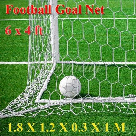 Football Soccer Goal Post Net 6x4FT for Football Soccer Sport Training Practise (Net Only)](Football Goal Post Flags)