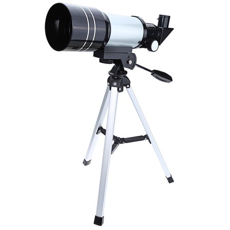 150X Astronomical Telescope Outdoor HD Spotting Scope Portable Monocular with Aluminum Alloy Tripod, Suitable for Kids and Beginners, Silver thumbnail